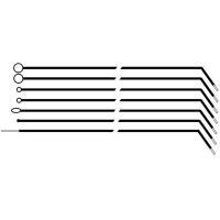 Отоларингологический гортанный комплект (7 шт.) #04700 - фото