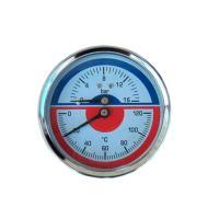 Фото термоманометра 10 bar/120C осевого (индикатор давления и температуры)