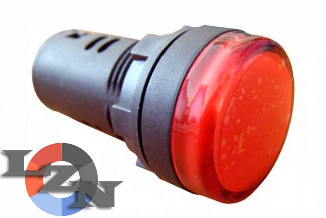 Фото арматуры светосигнальной AD22-22DS красная 110 В АС