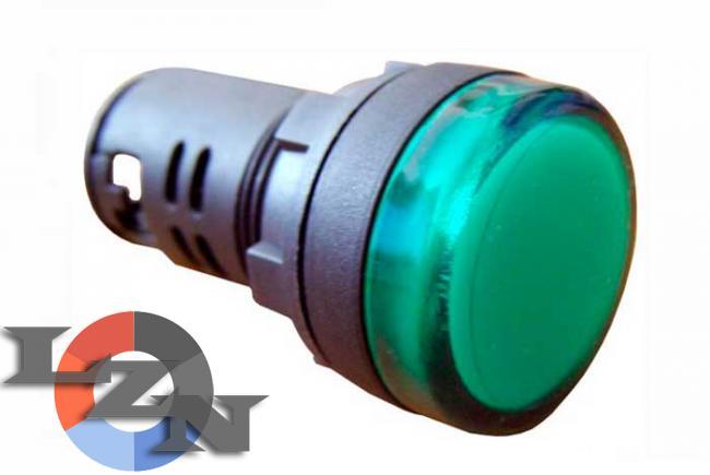 Фото арматуры светосигнальной AD22-22DS зеленой 220 В DC