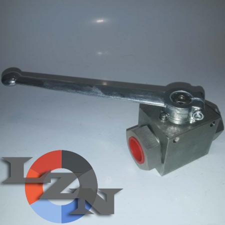 Блочный шаровый кран трехходовой DN20 G3/4 PN400 - фото №2