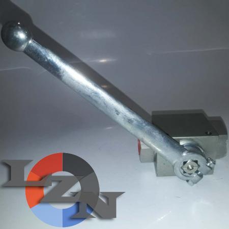 Блочный шаровый кран трехходовой DN20 G3/4 PN400 - фото №3