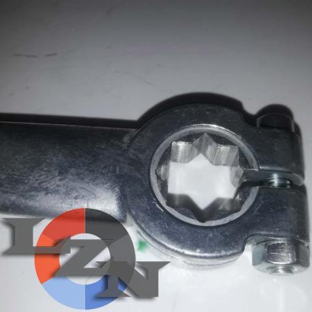 Блочный шаровый кран трехходовой DN20 G3/4 PN400 - фото №4