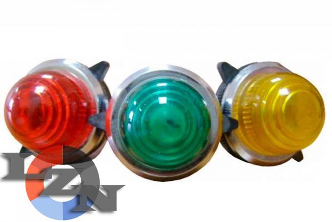 Фото сигнальной арматуры PL-30N зеленой 110/220 В